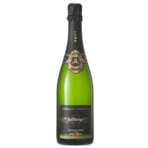 Wolfberger: Crémant d Alsace Riesling Brut palackban erjesztett fehér pezsgő (Elzász, Franciaország)