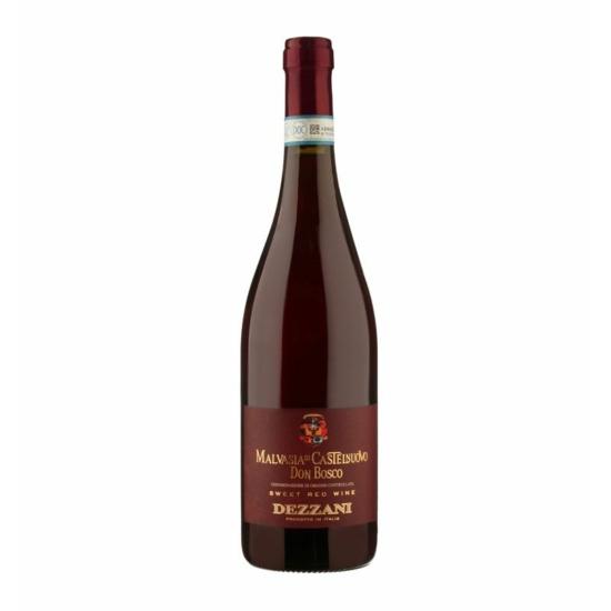 """Dezzani: Malvasia """"Don Bosco"""" 2018 édes habzó vörösbor (Piemont, Olaszország)"""