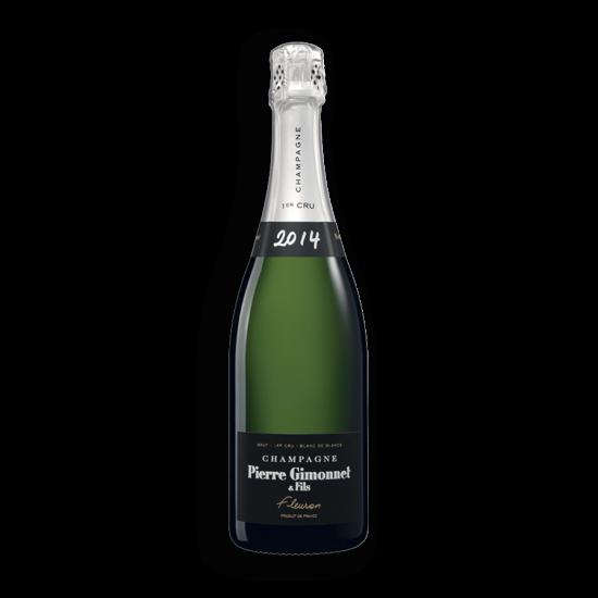 """Pierre Gimonnet: Champagne """"Fleuron"""" Brut Vintage 2014 palackban erjesztett fehér pezsgő (Champagne, Franciaország)"""