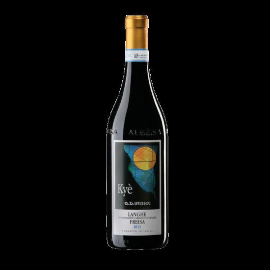 """Vajra: """"Kyé"""" Freisa Langhe vörösbor 2015 (Piemont, Olaszország)"""