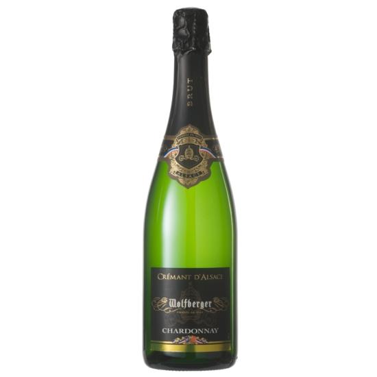 Wolfberger: Crémant d Alsace Chardonnay Brut száraz fehér palackos erjesztésű pezsgő (Elzász, Franciaország)