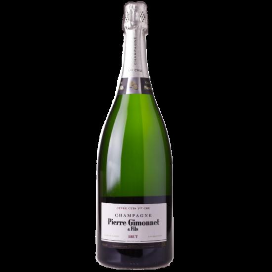 "Pierre Gimonnet: Champagne Brut ""Cuis"" Premier Cru Magnum 1.5L palackban erjesztett fehér pezsgő (Champagne, Franciaország)"