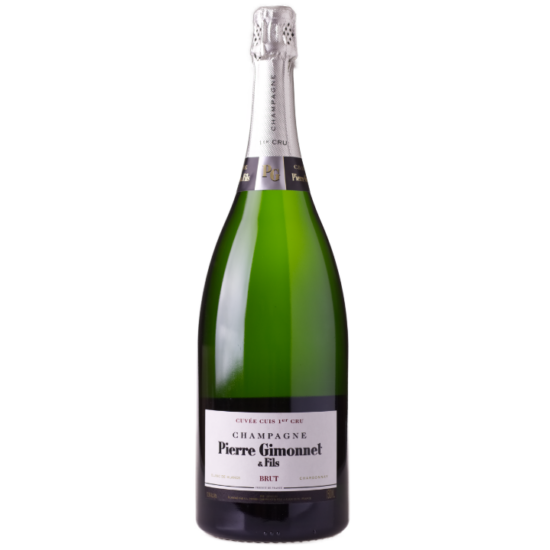 Pierre Gimonnet: Champagne Brut Cuis Premier Cru Magnum 1.5L palackban erjesztett fehér pezsgő (Champagne, Franciaország)
